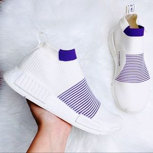 Adidas NMD Primeknit White Purple